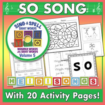 Sing & Spell Sight Words - SO