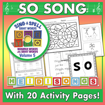 Sing & Spell Sight Words - SO