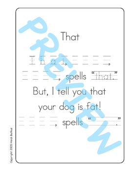 Sing & Spell Sight Words - THAT