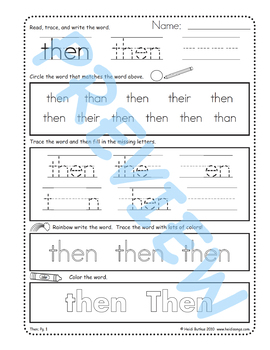 Sing & Spell Sight Words - THEN