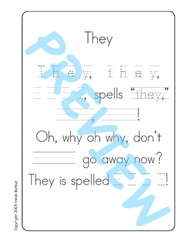 Sing & Spell Sight Words - THEY