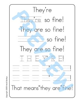 Sing & Spell Sight Words - THEY'RE