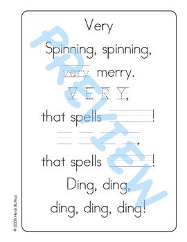 Sing & Spell Sight Words - VERY