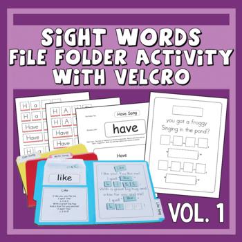 Sing & Spell Sight Words Vol. 1 Velcro Manipulative