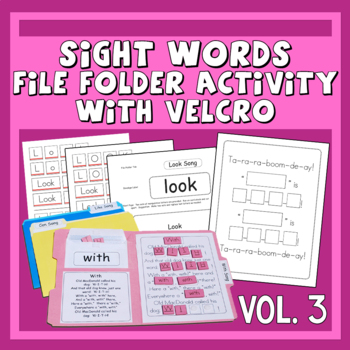 Sing & Spell Sight Words Vol. 3 Velcro Manipulative