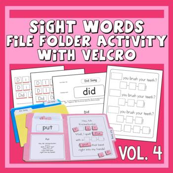 Sing & Spell Sight Words Vol. 4 Velcro Manipulative