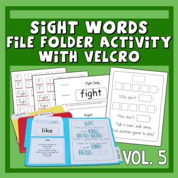 Sing & Spell Sight Words Vol. 5 Velcro Manipulative