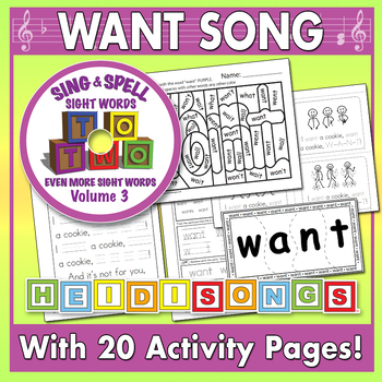 Sing & Spell Sight Words - WANT