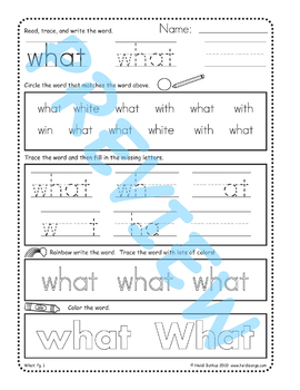 Sing & Spell Sight Words - WHAT