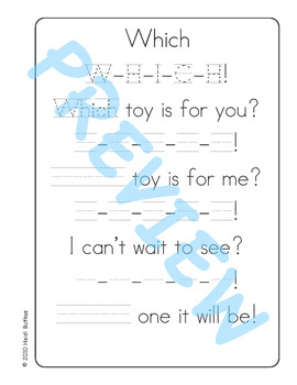 Sing & Spell Sight Words - WHICH