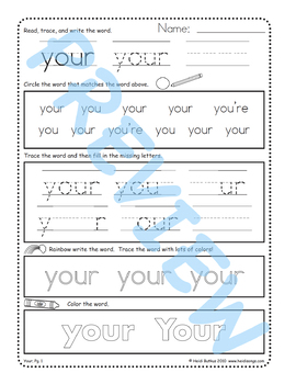 Sing & Spell Sight Words - YOUR