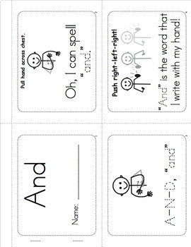 Sight Word Worksheets, Mini-Songbooks, and Flashcards