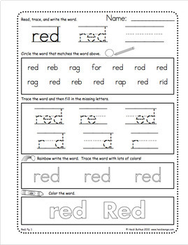 Sight Words Worksheets, Mini-Songbooks, and Flashcards Vol. 2