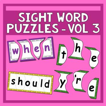 Sight Word Puzzles Vol. 3