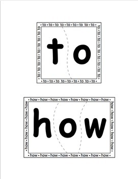 Sight Word Puzzles Vol. 3 - Heidi Songs
