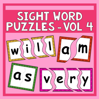Sing & Spell Vol. 4 Sight Word Puzzles