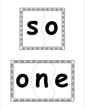 Sight Word Puzzles Vol. 5