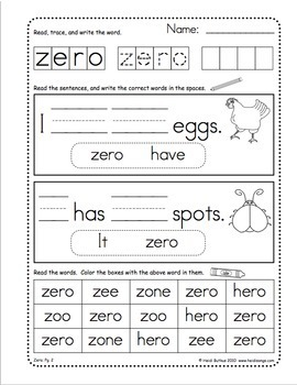 Sight Words Worksheets, Mini-Songbooks, and Flashcards Vol. 5