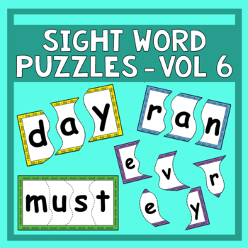Sight Word Puzzles Vol. 6