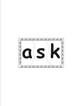Sight Word Puzzles Vol. 6 - Heidi Songs