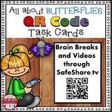 Science Task Cards - Sing, Think & Move with BUTTERFLIES {QR Codes}