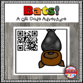 Science Task Cards - Sing, Think & Move with BATS {QR Codes}