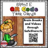 Phonics Task Cards - Sing, Think & Move with Silent E {QR Codes}