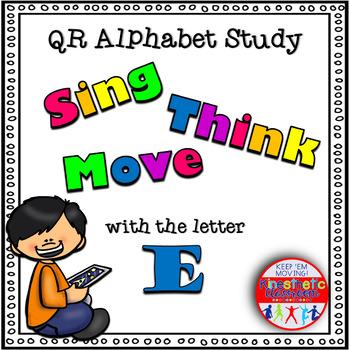 Alphabet Activities - QR Code Task Cards - Letter Sounds - E