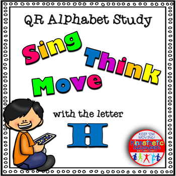 Alphabet Activities Letter Sound QR Code Task Cards the Letter H