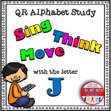 Alphabet Activities Letter Sound QR Code Task Cards the Letter J