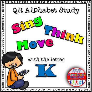 Alphabet Activities - QR Code Task Cards - Letter Sounds - K