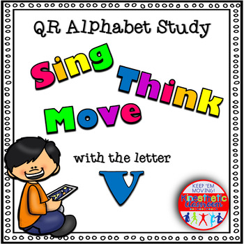 Alphabet Activities Letter Sound QR Code Task Cards the Letter V