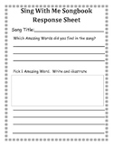 Sing With Me Songbook Response Sheet