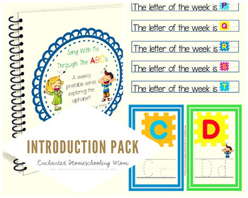 Sing With Me Through the ABC's Weekly Series – Introduction Pack