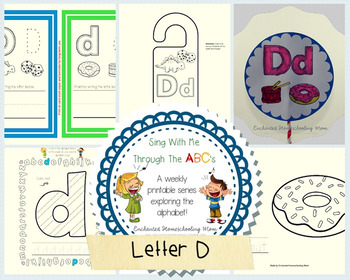 Sing With Me Through the ABC's Weekly Series – Letter D Pack