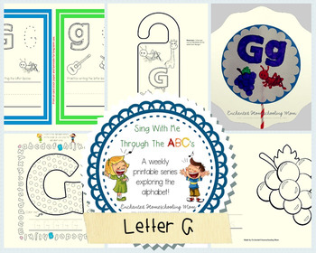 Sing With Me Through the ABC's Weekly Series – Letter G Pack