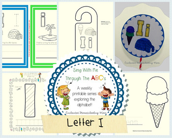 Sing With Me Through the ABC's Weekly Series – Letter I Pack