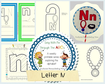 Sing With Me Through the ABC's Weekly Series – Letter N Pack
