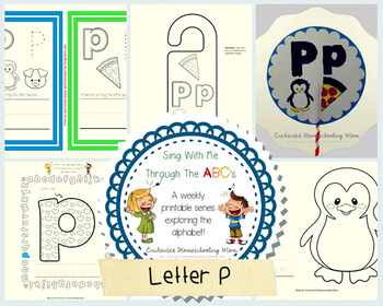 Sing With Me Through the ABC's Weekly Series – Letter P Pack