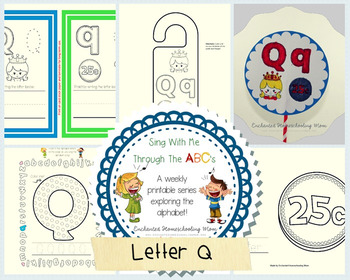 Sing With Me Through the ABC's Weekly Series – Letter Q Pack