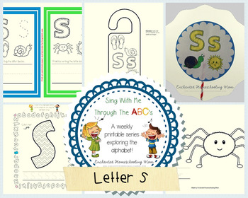 Sing With Me Through the ABC's Weekly Series – Letter S Pack