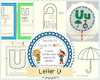 Sing With Me Through the ABC's Weekly Series – Letter U Pack