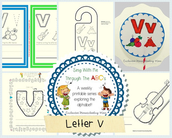 Sing With Me Through the ABC's Weekly Series – Letter V Pack
