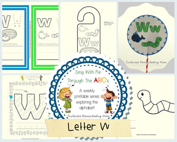 Sing With Me Through the ABC's Weekly Series – Letter W Pack