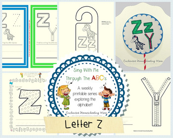 Sing With Me Through the ABC's Weekly Series – Letter Z Pack