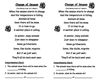 Reading Street Unit 3 Week 6 - Sing With Me song with comprehension questions