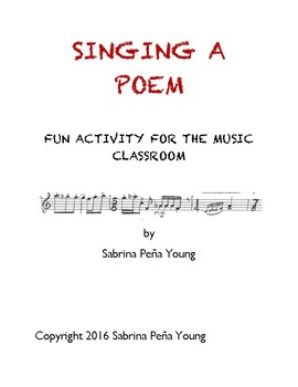Sing a Poem Musical Activity Lesson Plan