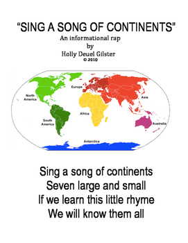 Sing a Song of Continents-a Rap