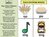 Nursery Rhyme Rhyming Activity, Music and Movement, Presch