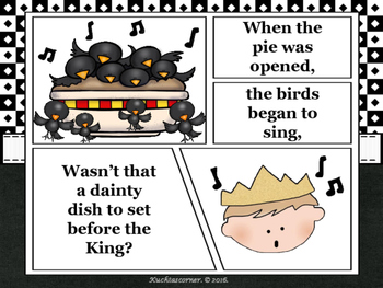 Sing a Song of Sixpence - Comic Strip Nursery Rhyme Story Telling - PDF Edition